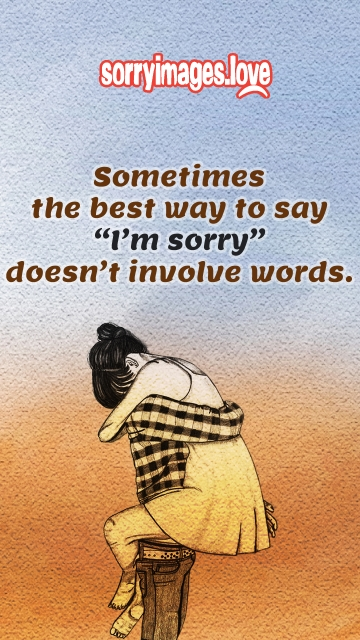 """Sometimes The Best Way To Say """"I'm Sorry"""" Doesn't Involve Words."""