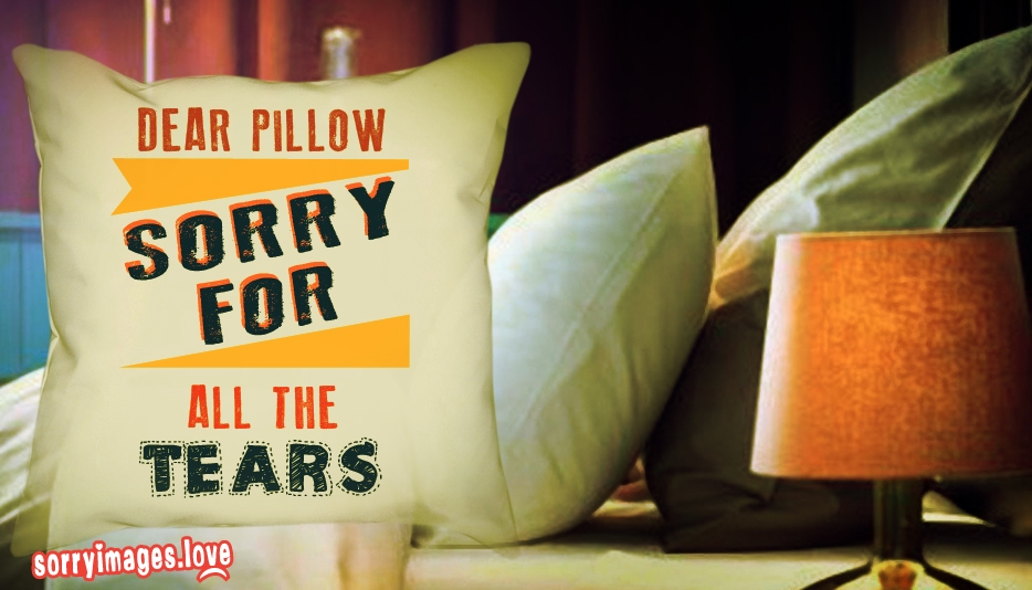 Dear Pillow Sorry for All the Tears - Sorry Images for Love