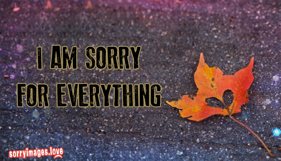 I Am Sorry For Everything  - Sorry Images For My Love