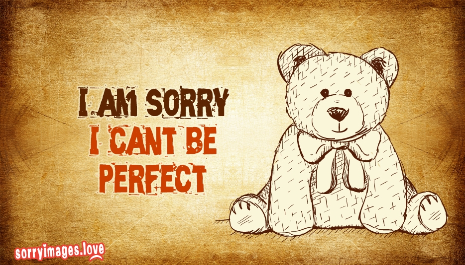 i am sorry i cant be perfect sorryimages love