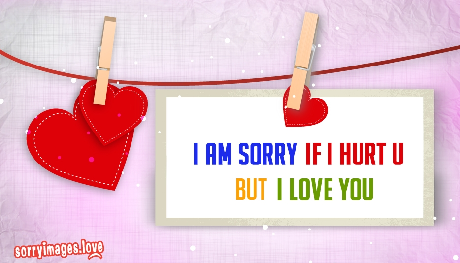 I Am Sorry If I Hurt You But I Love You @SorryImages.Love