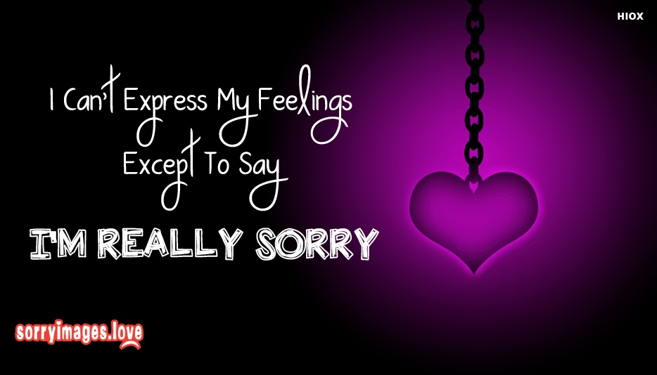 I Cant Express My Feelings Except To Say I am Really Sorry  - Sorry Images for Apology