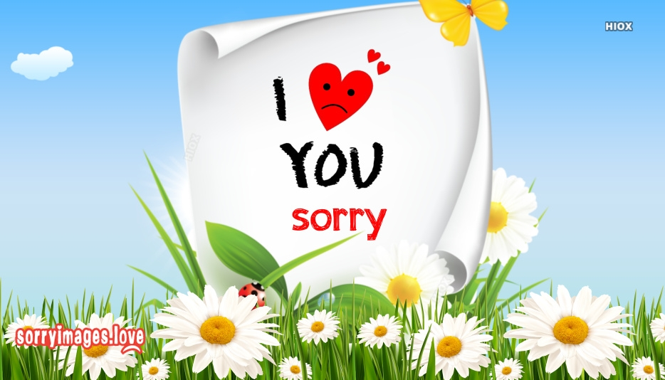 I Love U With Sorry Images