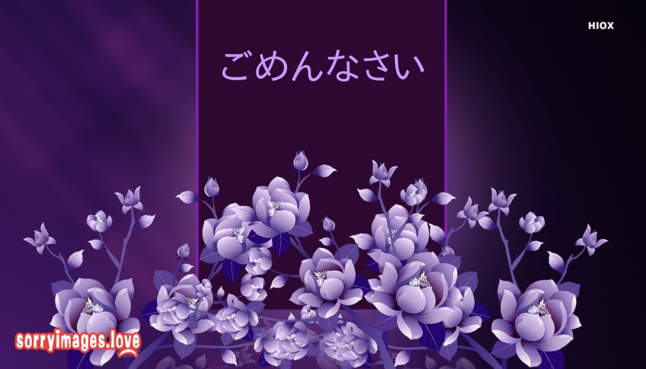 Sorry Images for Japanese