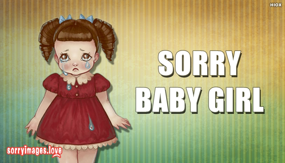Sorry Images for Little Girl