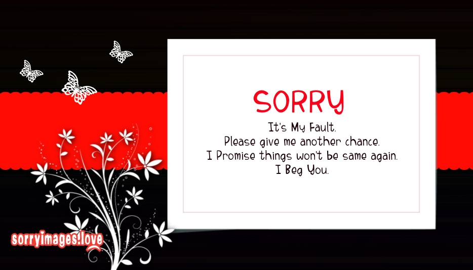 Sorry My Fault Images