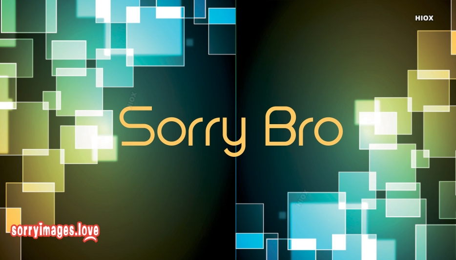 Sorry Bro Images With Quotes