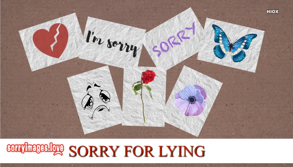 Sorry For Lying Images