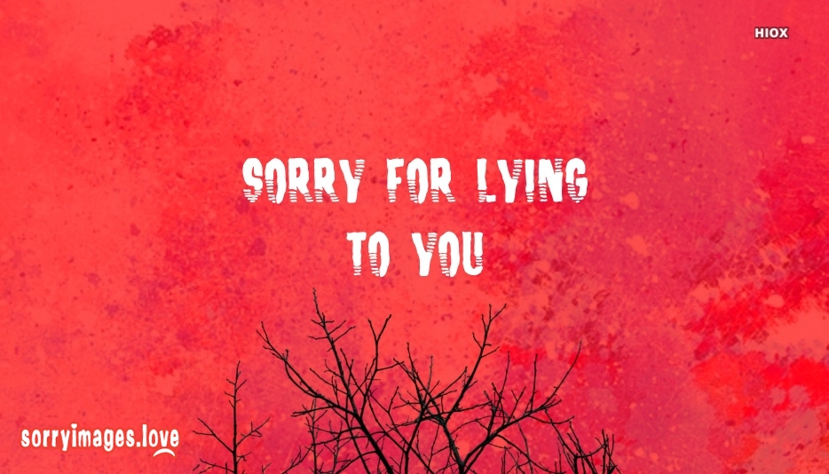 Sorry For Lying To You