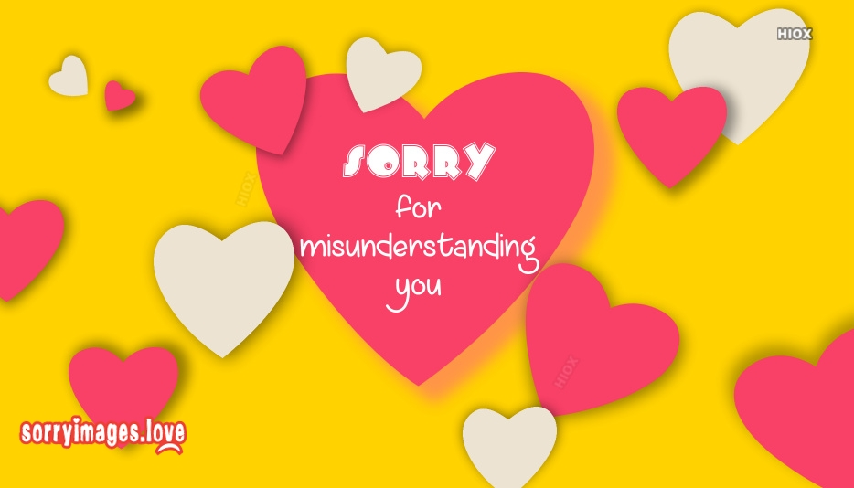 Sorry For Misunderstanding You