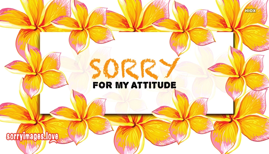Sorry For My Negative Attitude Images, Quotes