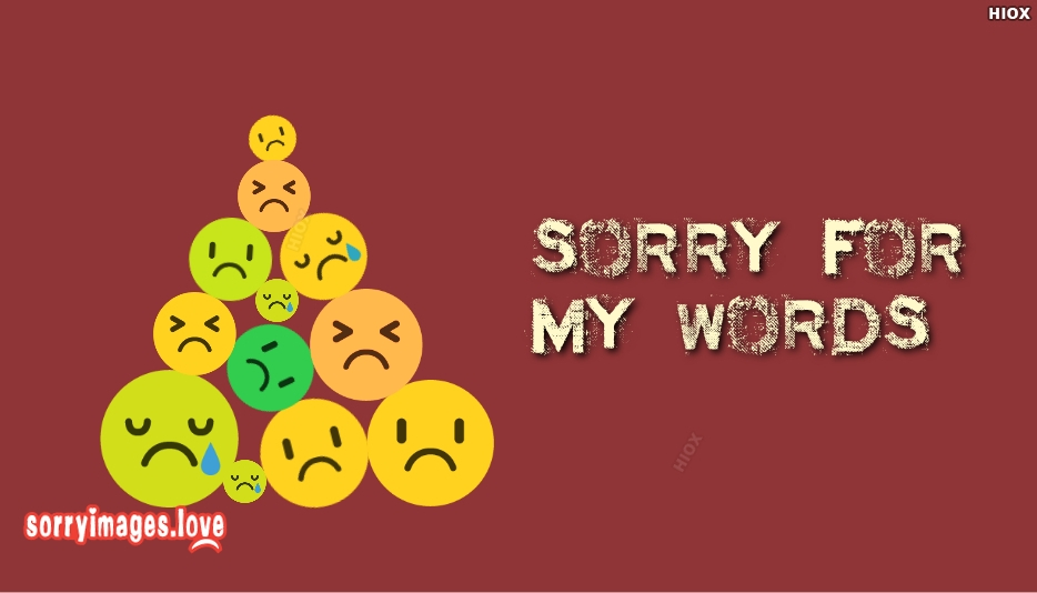 Sorry Images with Words