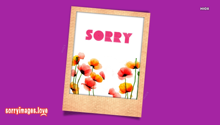Sorry Images for Sister