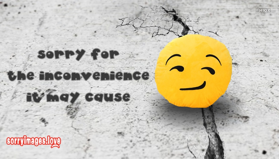 Sorry For The Inconvenience It May Cause Message