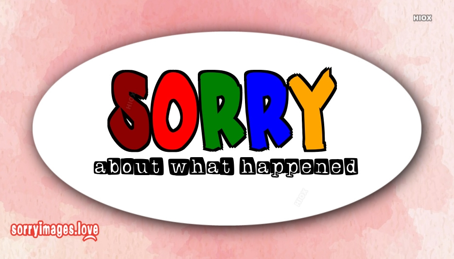 Sorry For What Happened Quotes