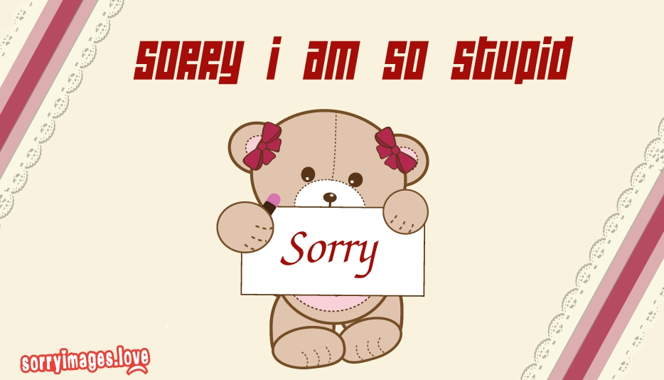 Sorry I Am So Stupid @ SorryImages.Love
