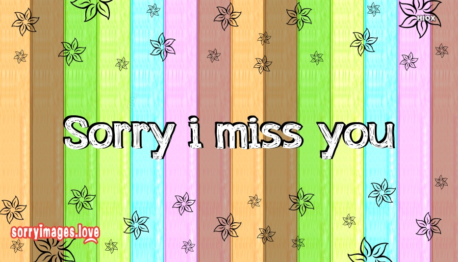 Sorry I Miss You