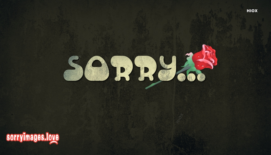 Sorry Image Card