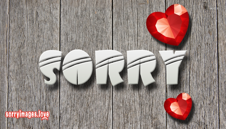 Sorry Image For Love