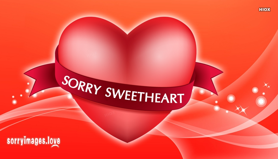 Sorry Image For Sweetheart