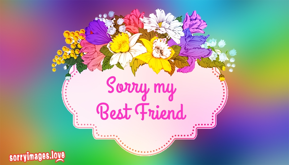 Sorry My Best Friend Images