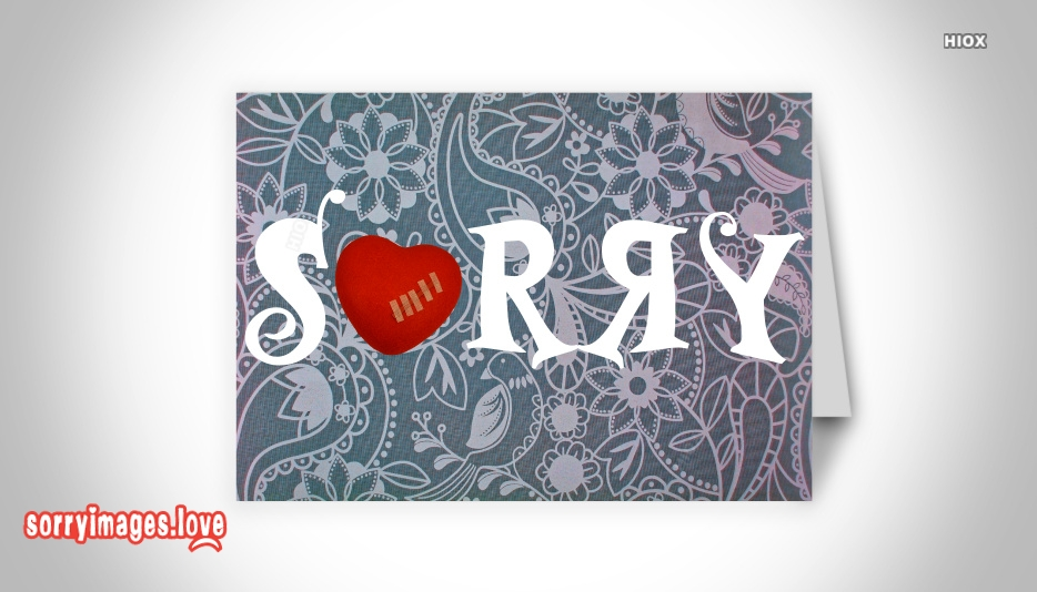Sorry Images For Sweetheart