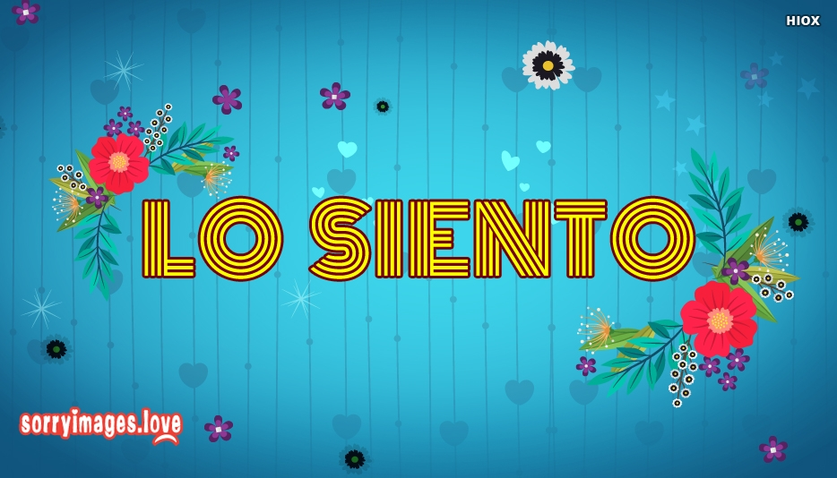 Sorry In Spanish | Lo Siento