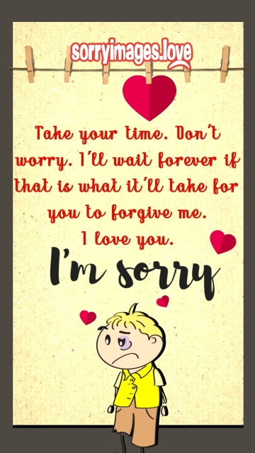 Sorry Love Card