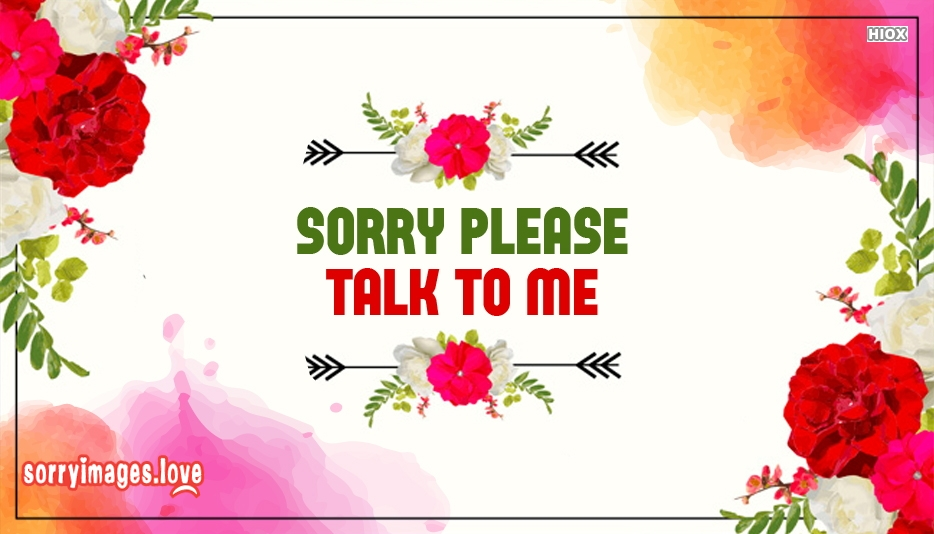 Sorry Please Talk To Me Image