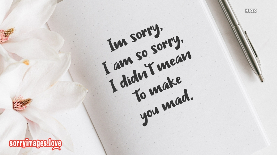 Sorry Images for Sorry Card