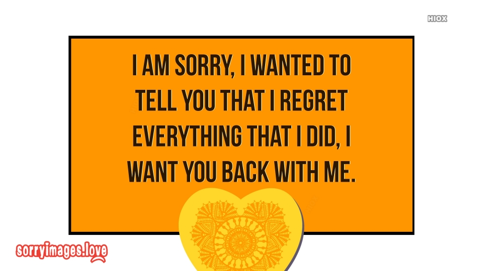 Sorry Quotes Image For Him