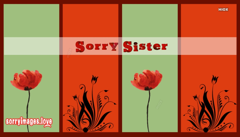 Sorry Sister Images Hd