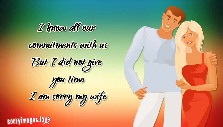 Apology sms to wife