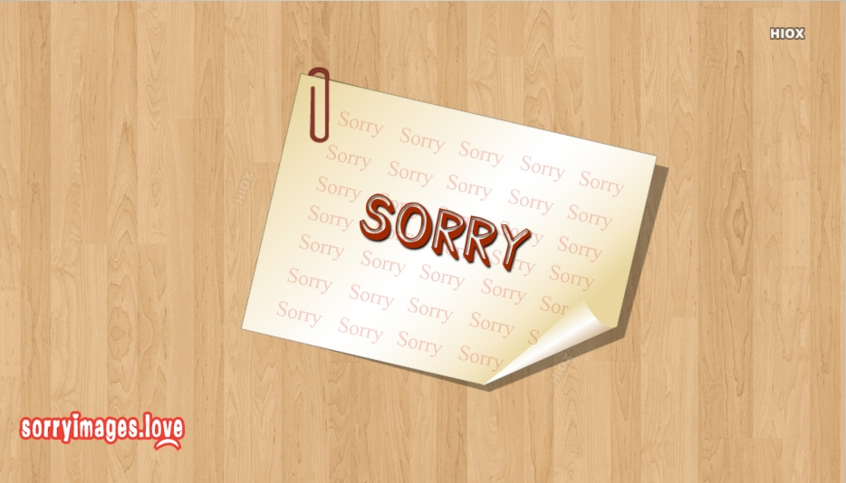 Sorry Status Images
