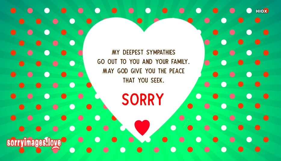 Sorry Sympathy Quotes, Messages