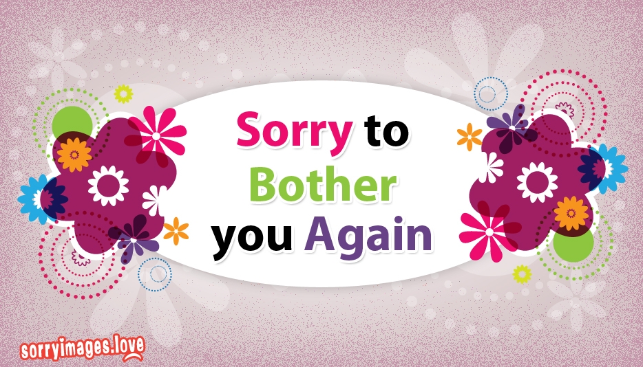 Sorry To Bother You Again
