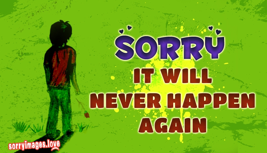 Sorry To Your Girlfriend | Sorry It will Never Happen Again  - Sorry Images for Girlfriend