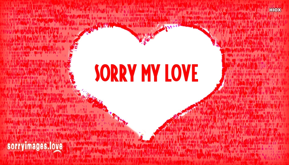 Sorry Love Message Images