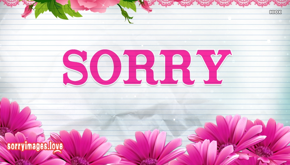 Sorry Wallpaper For Download