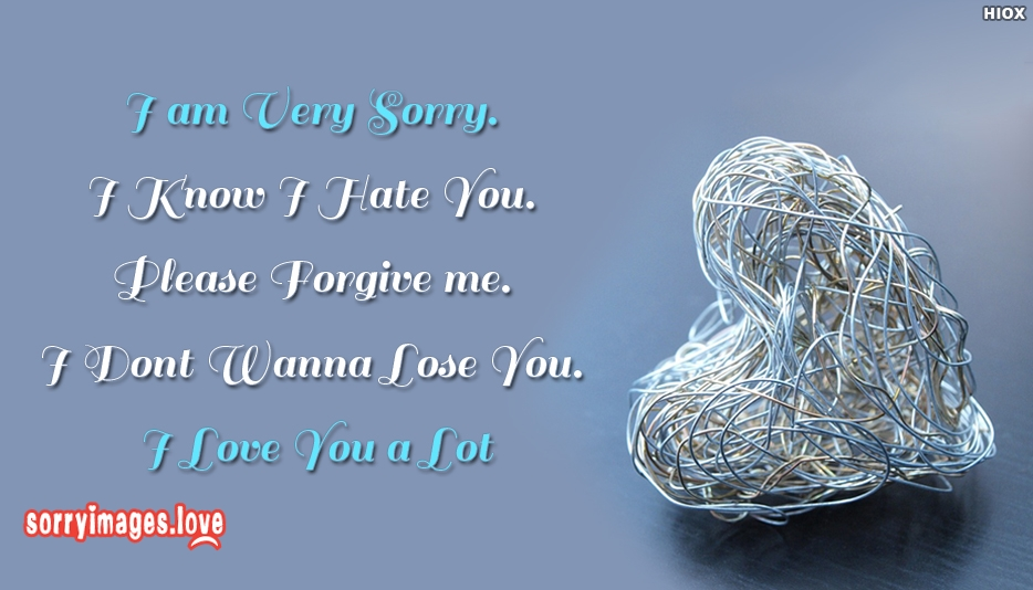 Sorry Wallpaper For My Love - I Am Very Sorry. I Know I Hate You. Please Forgive Me. I Dont Wanna Lose You. I Love You A Lot