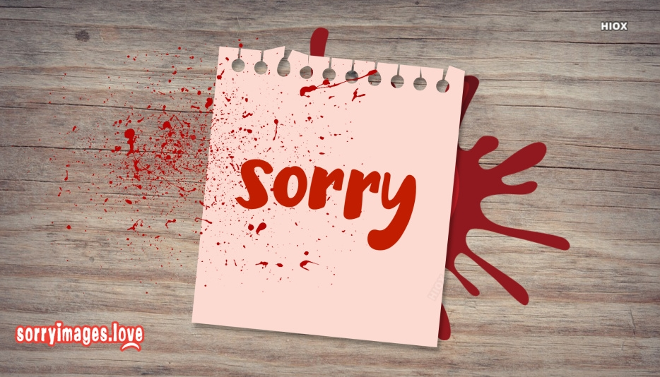 Sorry Images for Blood