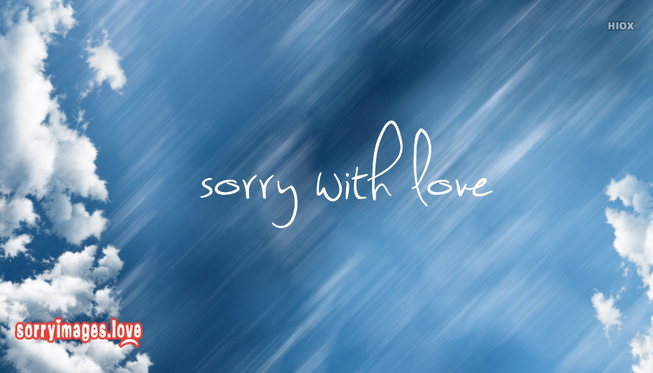 Sorry With Love Photo