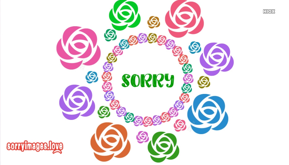 Sorry With Roses Images