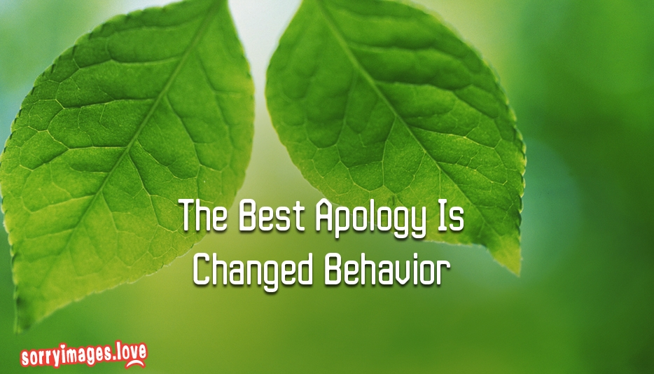 The Best Apology Is Changed Behavior - Sorry Images for Girlfriend