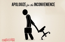Sorry For Any Inconvenience Image