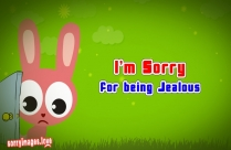 Images of Apology for Jealousy