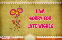 I Am Sorry For Late Wishes Image