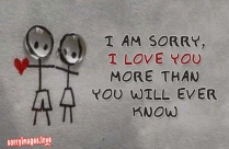 I Am Sorry, I Love You