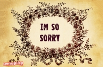 So Sorry With Flowers