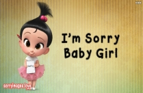 I'm Sorry Baby Girl Pic